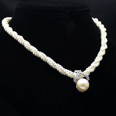 Jewelry - S Fashion Women Pendant Chain Choker Chunky Pearl Statement Bib Necklace Jewelry