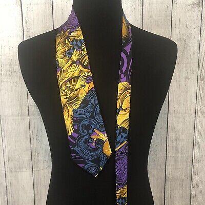 Vintage Gianni Versace V2 Baroque Multicolor 100% Silk Woven Neck Tie