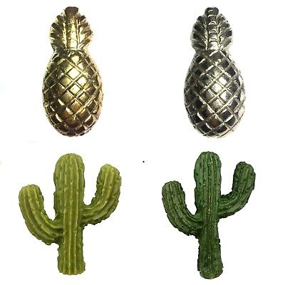 Pineapple iron cupboard door knobs and cactus resin cupboard knobs, cacti