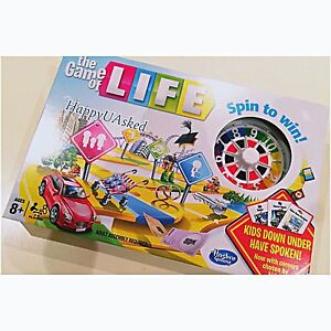 NEW HASBRO THE GAME OF LIFE BOARD GAME - SPIN TO WIN - 04000
