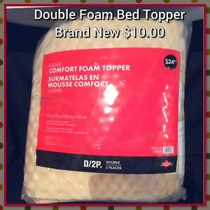 New Double Bed Sized Foam Topper - Valleyview