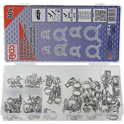 Bgs 9475 Surtido abrazaderas de fleje de acero 6,5 mm - 18...