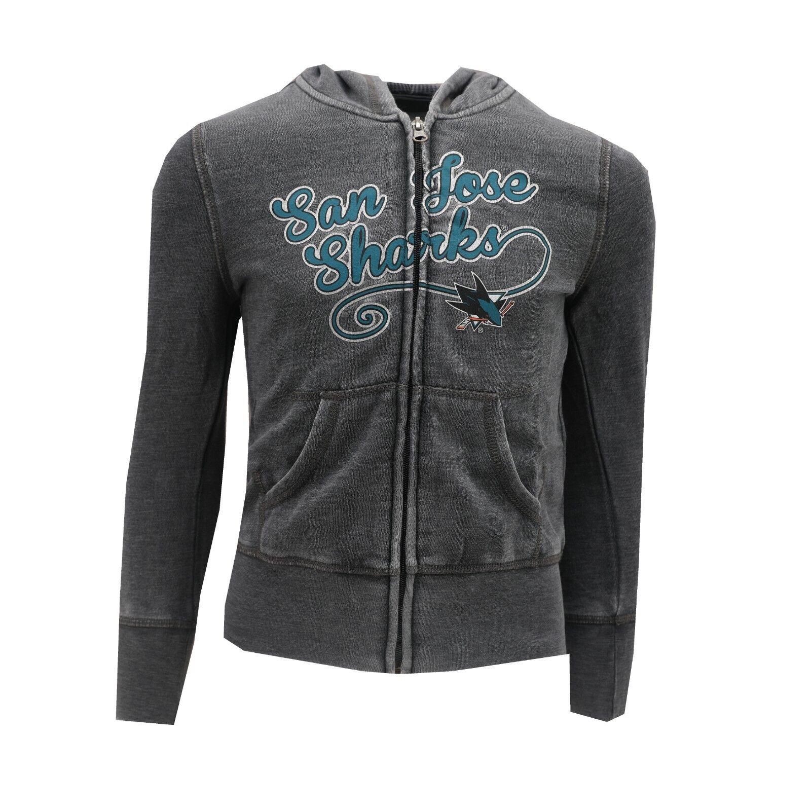 717fe9cdc San Jose Sharks NHL Kids Youth Girls Size Full Zip Hooded Sweatshirt New  Tags