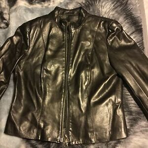 Soft Danier Dk. Brown leather jacket
