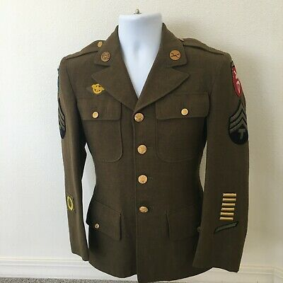 Original Early WW2 U.S. Army 4 Pocket Uniform Jacket & Trousers dated 1942