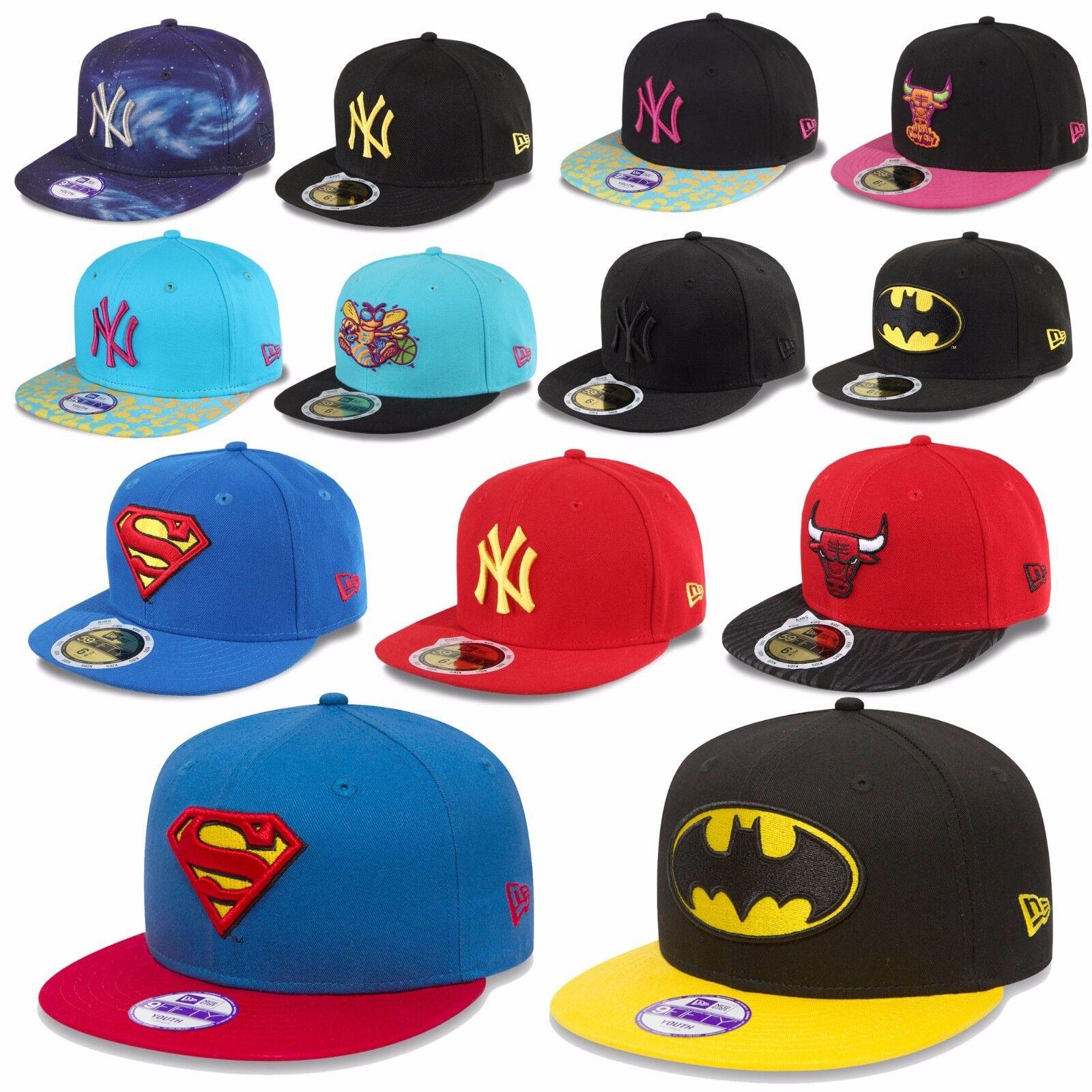 New Era Kinder Cap Snapback 59fifty Jungen Mädchen Yankees Batman Superman Bulls