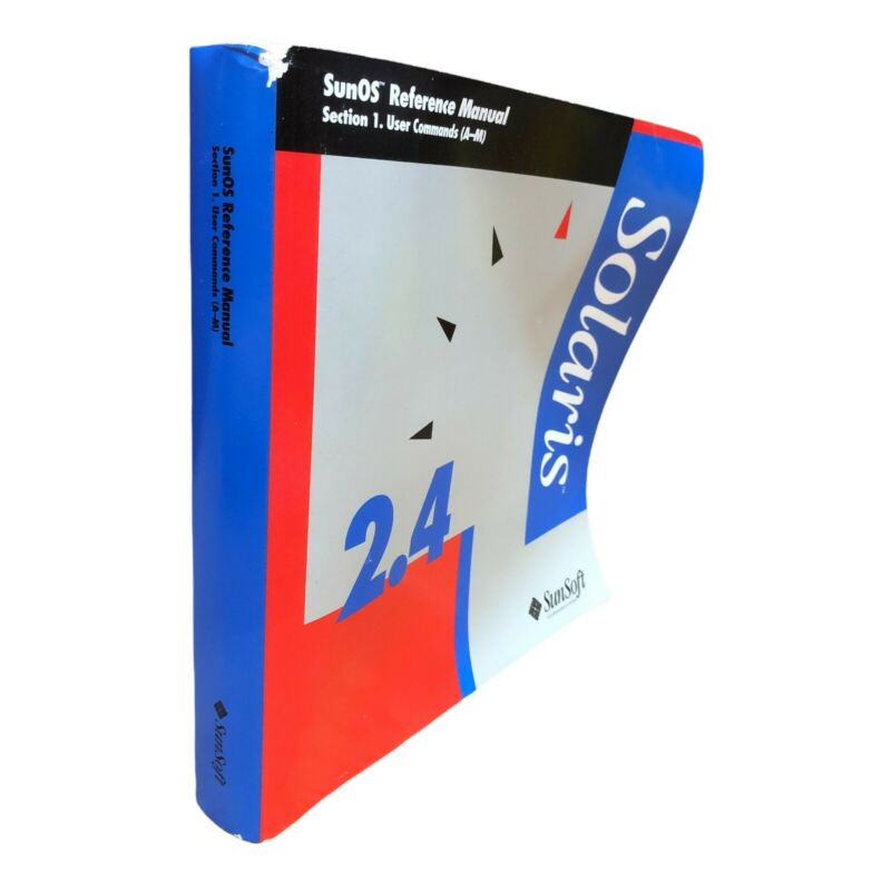 SUNSOFT 2.4 SOLARIS SUNOS SECTION 1 USER COMMANDS (A-M) REFERENCE MANUAL