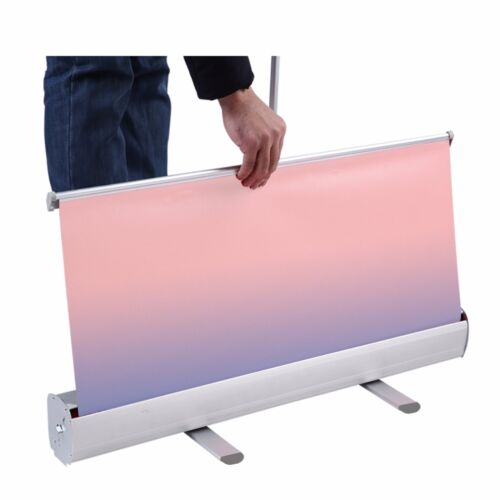 """33.5""""x72"""",Heavy-Duty Standard Retractable Roll Up Banner Trade Show Stand"""