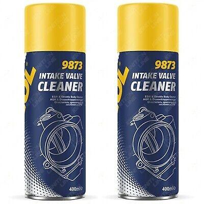 2 x MANNOL Intake Valve EGR IAC Throttle Body Cleaner Spray Diesel Petrol 400ml