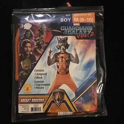 Guardians Of the Galaxy Rocket Raccoon Halloween Costume Boy Medium 8-10](Raccoon Halloween Costume)