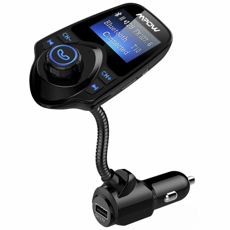 Mpow Car Kit Wireless Bluetooth FM Transmitter Stereo MP3 Player Adapter Charger
