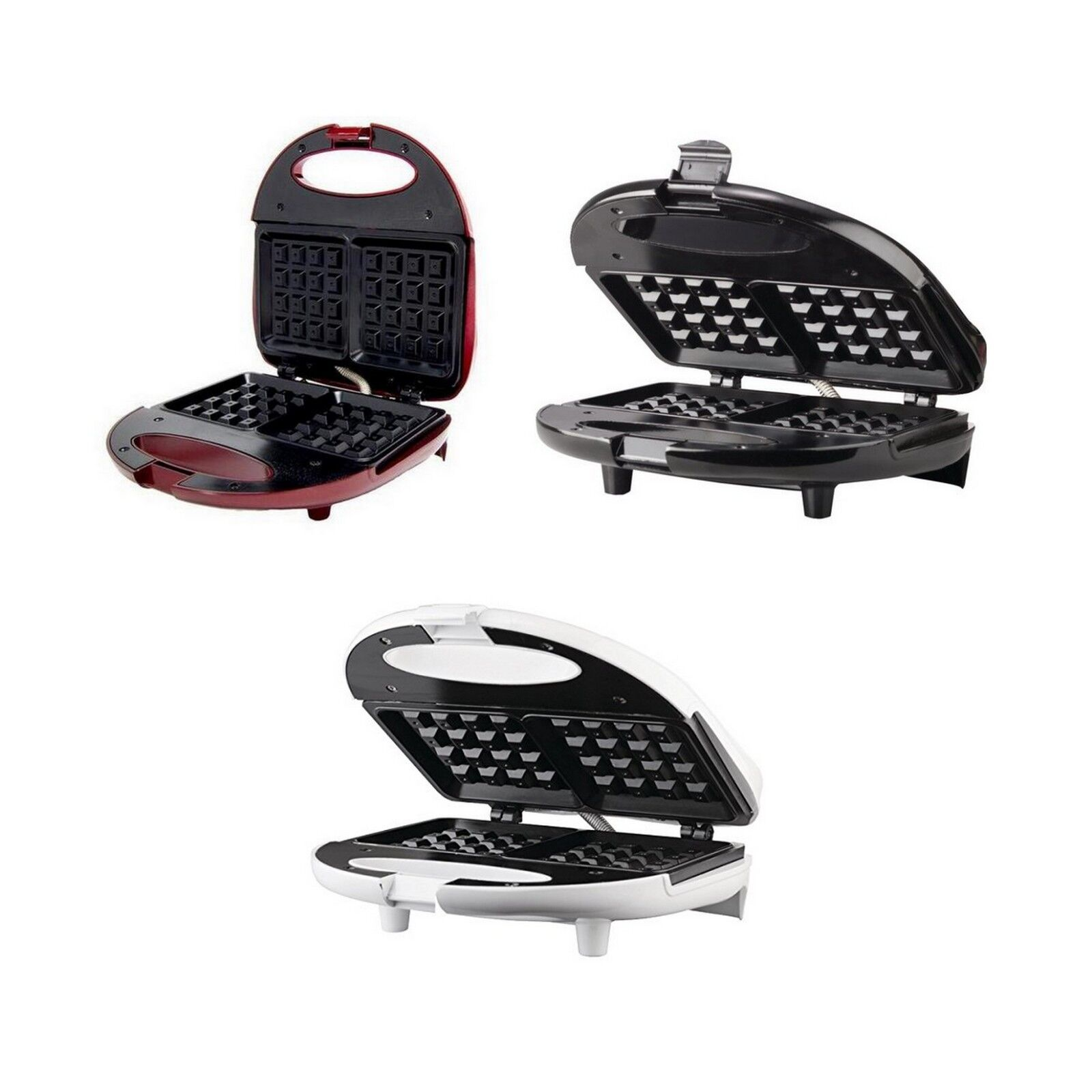 Electric Compact Belgian Waffle Maker in 3 COLORS