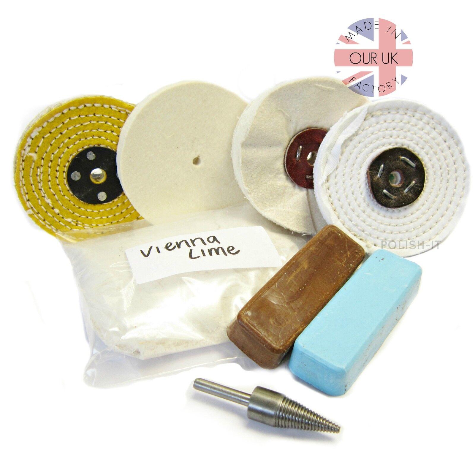 Métal polissage kit 13 pour métaux non ferreux vadrouilles et polissage composé