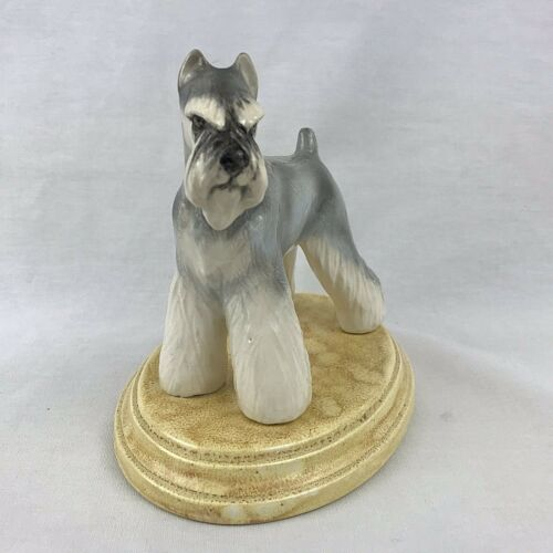 Schnauzer Dog Figurine Mari Original Salt Pepper Gray Show Cut