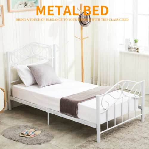 twin size heavy duty metal bed frame