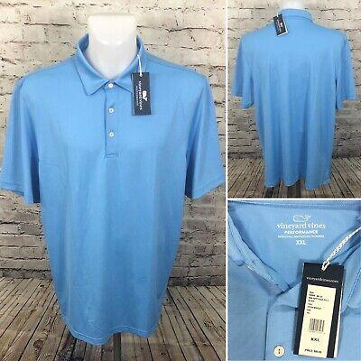 Vineyard Vines Performance Tempo Solid Pique Polo Shirt Ocean Breeze Mens Sz 2XL