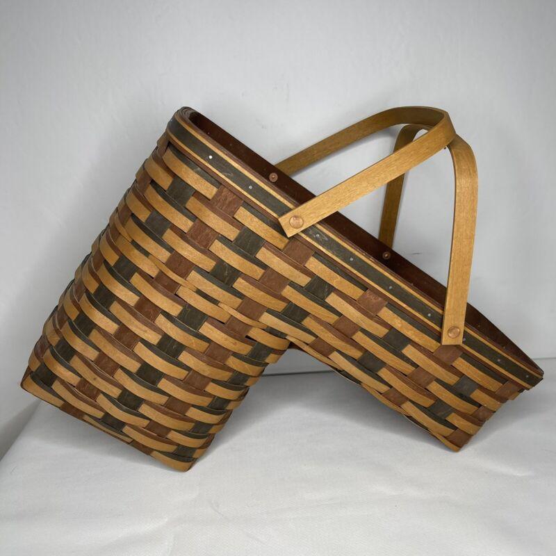 Longaberger Step It Up Basket with Protector Harvest Weave Stair Step Basket