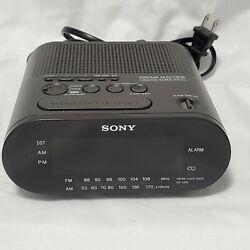 Sony Dream Machine Digital Alarm Clock AM FM Radio Black Model No. ICF-C218
