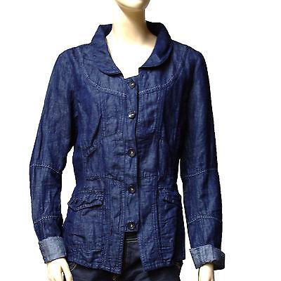 Veste bleu indigo femme