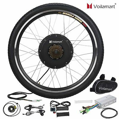 "48V 1000W Electric Bicycle Conversion Kit Motor Hub E Bike 26"" Rear Wheel"