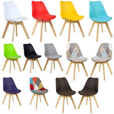 Esszimmerstühle Küchenstühle Stuhl gepolstert Kunstleder Massivholz #942-24