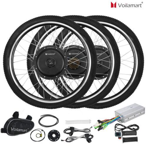 "Voilamart  Electric Bicycle E-Bike 26"" Front Rear Wheel Moto"