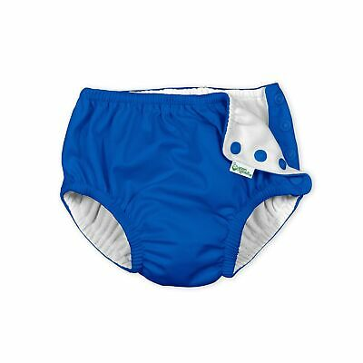 Baby Reusable Swim Diaper Royal Blue Snap Cosure UV Protection Waterproof Fabric