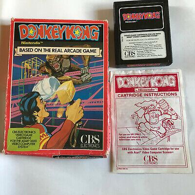 Donkey Kong / CIB / Atari 2600 / Tested & Working / 7800 / PAL