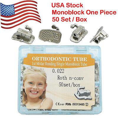 Usa 200pcs Dental Orthodontic Monoblock Buccal Tube 1st Molar Tubes Roth 0.022