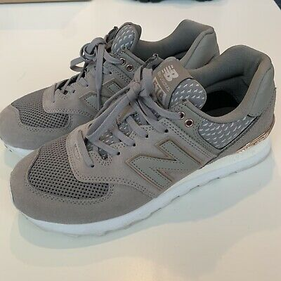 New Balance 574 Women's shoes Grey Gold Size 8
