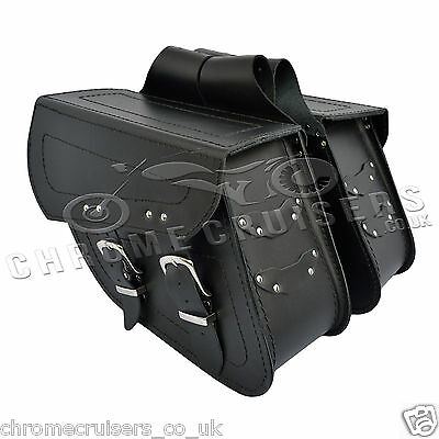 MOTORCYCLE LEATHER SADDLEBAGS PANNIERS TRIUMPH THUNDERBIRD AMERICA ROCKET C13A