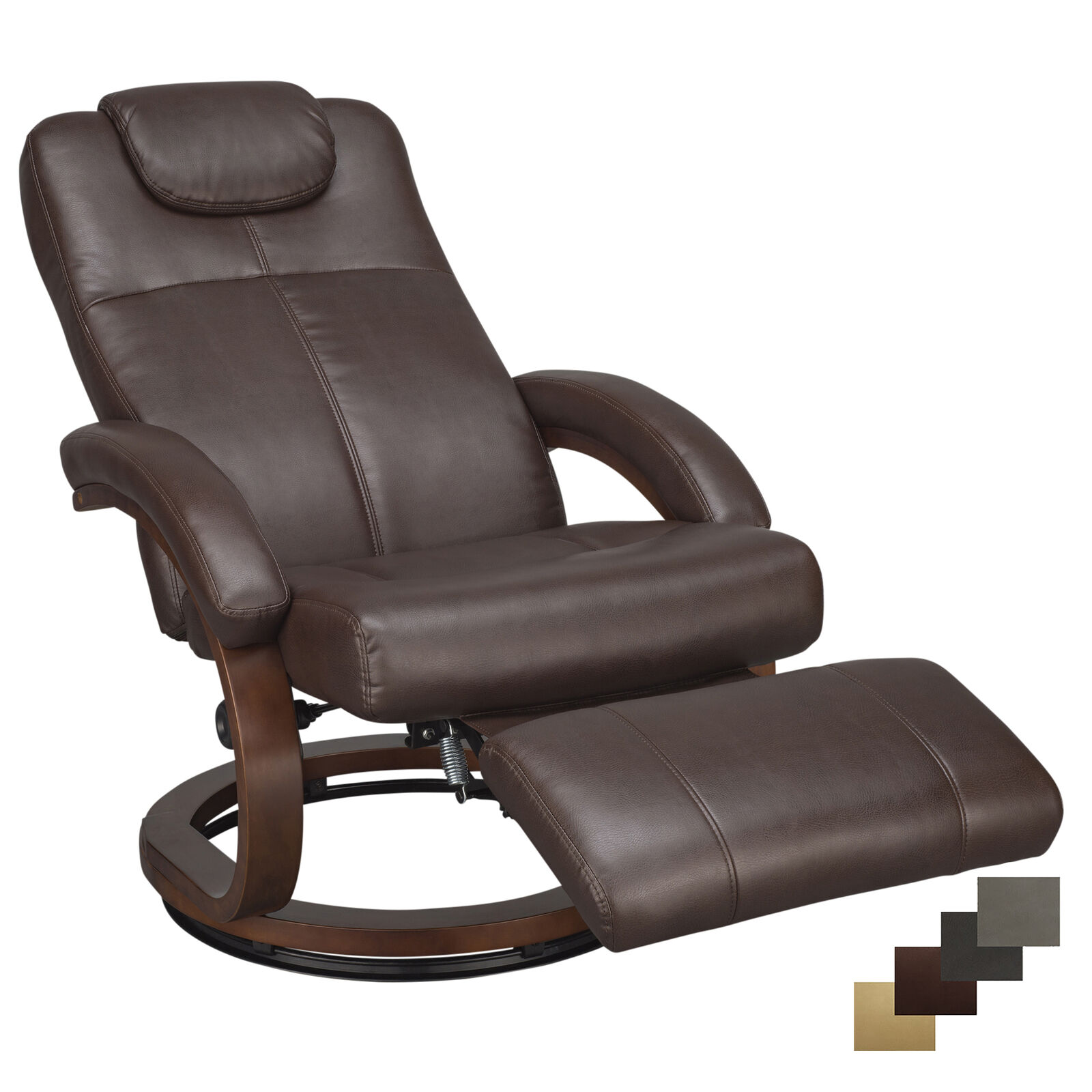 "RecPro Charles 28"" RV Euro Chair Recliner Ergonomic RV Furniture Seat Swivel"