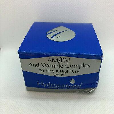 Hydroxatone AM/PM Anti-Wrinkle Complex Spf15 1oz/28.4g New In Box EXP 11/12