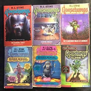 6 x Goosebumps R.L. Stine kids childrens books