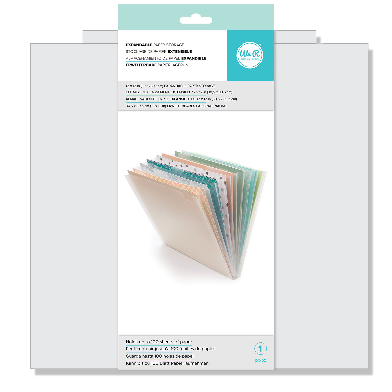 2-Pack American Crafts 632376 12 in White Cardstock Paper 60 Pack x 12 in