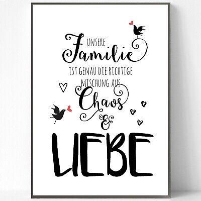 Druck FINE ART  Bild Poster  Print    FAMILIE - CHAOS & LIEBE