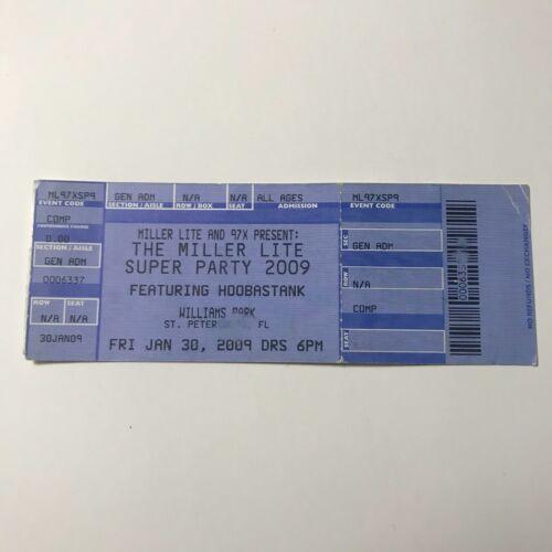 Hoobastank Miller Lite 2009 Super Party Concert Ticket Stub January 2009