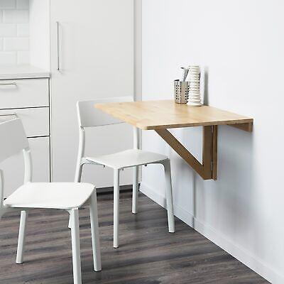 IKEA Wandklapptisch De Macizo Abedul (79x59cm ), Mesa Plegable, Mesa, Auxiliar