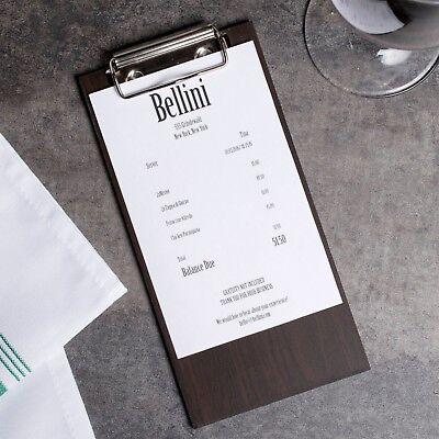 24 Pack Wood Menu Holder Bill Check Presenter Restaurant Bar Server Clip Board