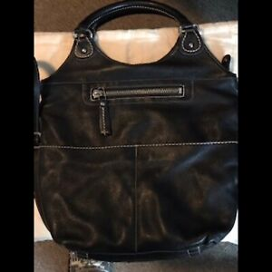 Roots Lauren  Black Prince Shoulder/Crossbody Bag
