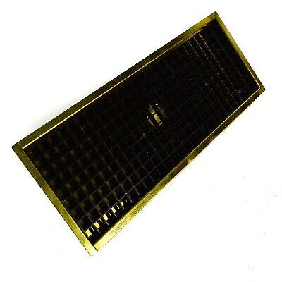 Bar Drain Tray (Brass Steel Drip Tray Bar Beer Tower Kegerator Drain Spill Catcher 15x6 )
