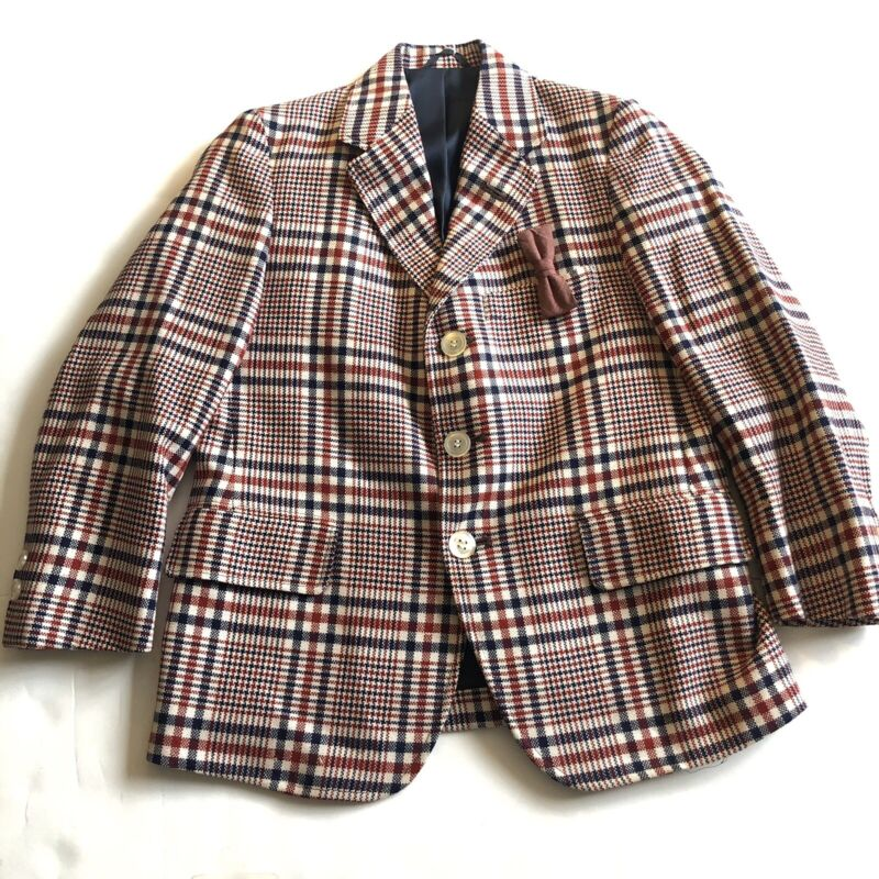 Vintage Lord And Taylor The Boys Shop Plaid Blazer