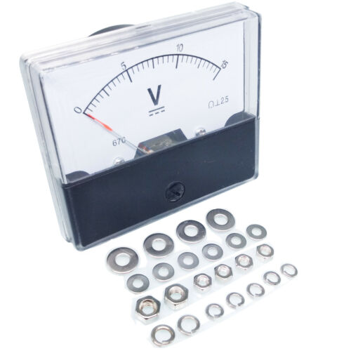 US Stock Analog Panel Volt Voltage Meter Voltmeter Gauge DH-670 0-15V DC