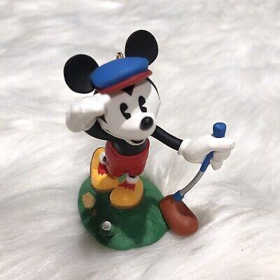 "Hallmark 1997 Vtg Mickey's Long Shot"" Disney Mouse Golf Christmas Ornament"