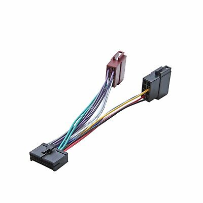 Eonon 12 Pin ISO Wiring Harness Adaptor Connector Lead Cable Wire Plug Loom