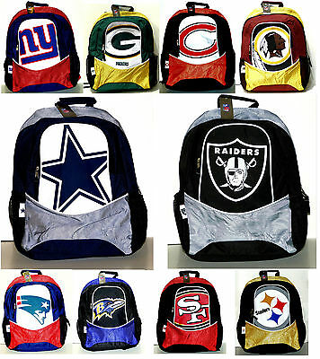 NFL Licensed Backpacks - Full Size - Assorted Teams - FREE Priority Mail