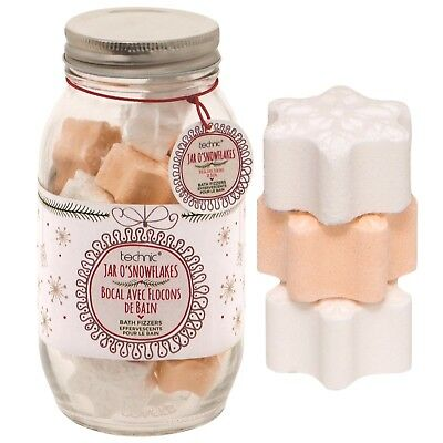 Technic Jar Of Snowflakes Bath Bomb Fizzers Xmas Gift Set 18 x 20g Bombs Novelty
