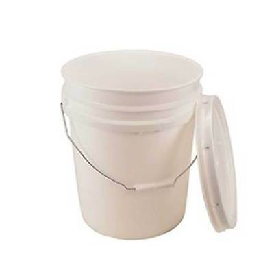 5 GALLON BUCKET WITH LID - BPA FREE  FOOD GRADE 90 MIL PLASTIC- ALL PURPOSE - Plastic Bucket