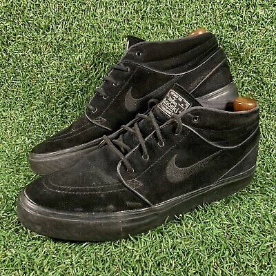 Nike Stefan Janoski Black Skateboard Skate Shoes Trainers Mens Size UK 10 EU 45