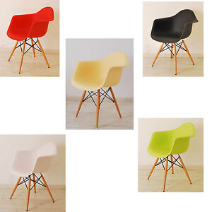 Eames Inspired Eiffel Retro Plastic Dining Chair Lounge Armchair